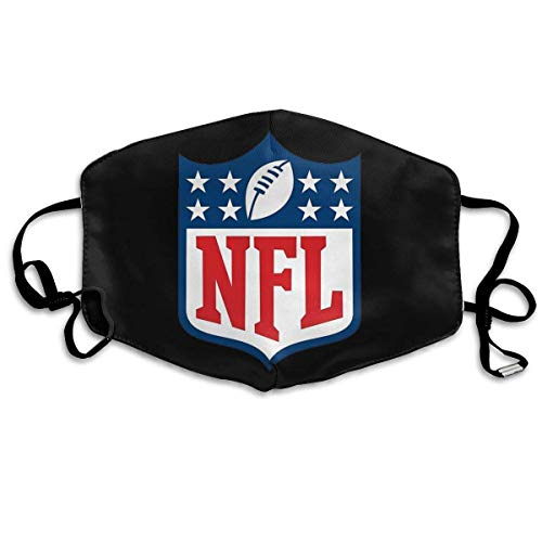 Mundschutz Reusable Nose Face Cover with NFL Logo Mouth Cover Adjustable Earloops