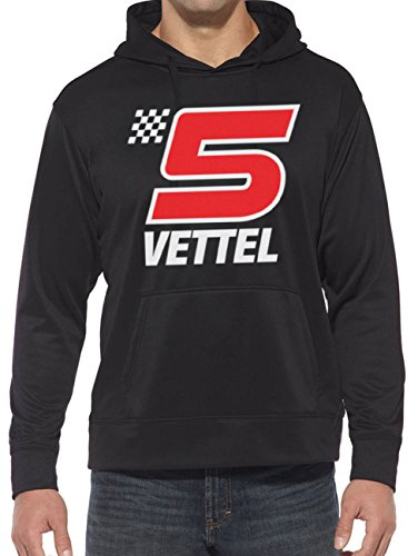 Hotfuel Vettel 5 Sweat à capuche Imprimé Taille S à 5XL - Noir - XL
