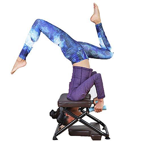 CCTYCC Inversion Chair Faltbare Aufbewahrung rutschfeste und verschleißfeste 20,8 * 16,9 * 14,9 Zoll Stahlrohr-Inversionsbank für Yoga Fitness und Fitnessstudio/Schwarz