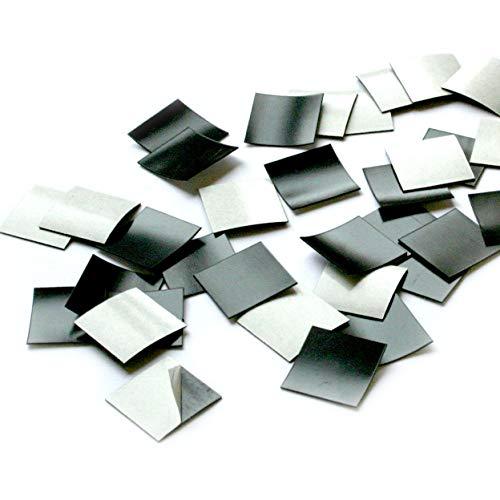 100er Set Magnet-Plättchen selbstklebend I Größe 2x2 cm I für Foto Postkarte Poster Notizen I DIY Kühlschrank-Magnet I mag_001