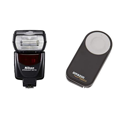 Nikon SB-700 Blitzgerät für Nikon SLR-Digitalkameras & Amazon Basics IR-Fernauslöser für Nikon SLR-Digitalkameras (z.B. D90, D3000, D31000, D5000)