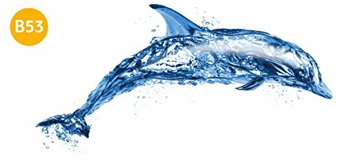 Aufkleber Pool * Sticker Swimmingpool * Poolaufkleber * Poolboden * Delfin B53 * 200 x 90 cm