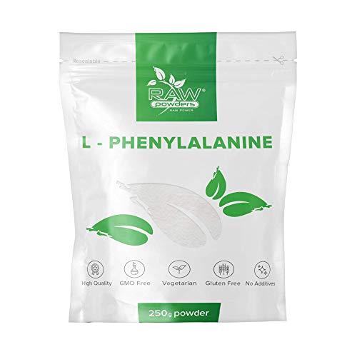 RP L Phenylalanin Pulver 250g   L-Form Phenylalanin   Essentielle Aminosäure Für Lernfähigkeit, Erinnerungsvermögen & Aufmerksamkeit   Vegan, Ohne GVO, Gluten & Milch   Hergestellt in GB