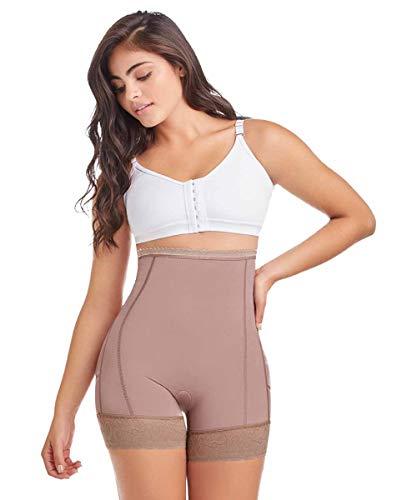 Shapewear from Fajas Diseño D´Prada 11197 Women´s High- Waist Control Panty Body Shaper (Mocca, L)