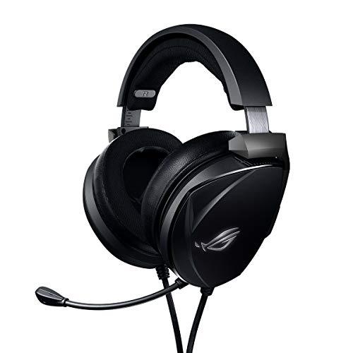 ASUS ROG Theta Electret - Auriculares para Gaming, transductores Essence de neodimio y electret, micrófono Integrado y Soporte multiplataforma para PC, Consolas y Dispositivos móviles