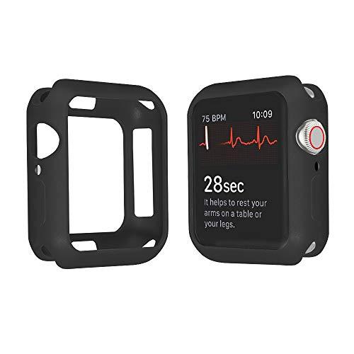 HGGFA Funda de Silicona Suave para el Reloj de Apple 3 2 1 42 mm 38 mm Cubierta Protectora Completa Shell para iWatch 4 5 6 Se 40mm 44mm Reloj Parachoques