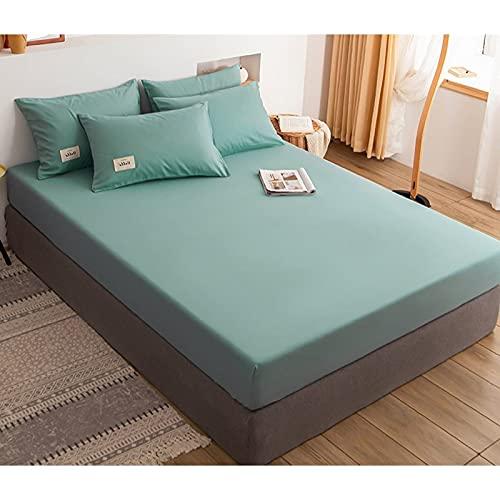 HAIBA 100% Langstapelige Baumwolle Spannbetttuch, Weiche Satin-Webart passt(100% Baumwolle bettlaken),180x200cm(3pcs)