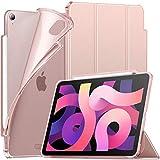 INFILAND Funda Case para iPad Air 4 Generación,iPad 10.9 Inch 2020 Cover Soporte,[Auto-Reposo/Activación Cubierta] [Espalda translúcida Mate] [Carcasa Ligera] [Ultra Delgada Estuche],Rosa Dorado