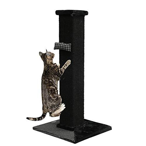 GNEGNIS Poste Rascador para Gatos, Poste rascador para Gatos de sisal con Juguete - 84 x 41 x 41cm