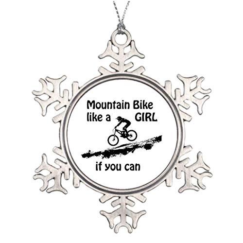 Cukudy Mountainbike als een meisje te koop kerstboom decoratieve sneeuwvlok ornamenten bruiloft verjaardag herinneringen