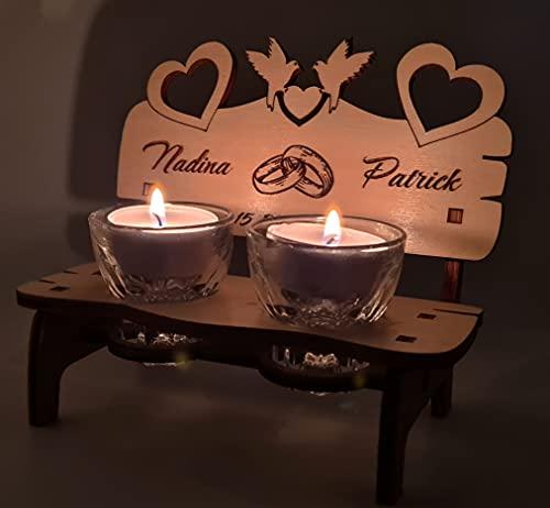 Romantisches Hochzeitsgeschenk - Hochzeitsbank - Hochzeitstag Geschenke für männer Frauen - Jahrestag Geschenk für Ihn Sie Paare