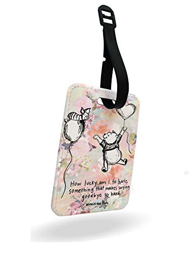 Winnie The Pooh - How Lucky am I to Have Something That Makes Saying Goodbye so Hards Luggage Tag and Strap with Rear Part Printed