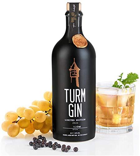 TURM GIN Limited Edition 2020 - Barrel Aged Dry Gin | Premium Bio-Gin aus Norddeutschland | Ehrlich-nordischer Geschmack | Mit Oloroso Sherry Note, Holsteiner Cox & 15 erlesenen Botanicals [0,7 Liter]