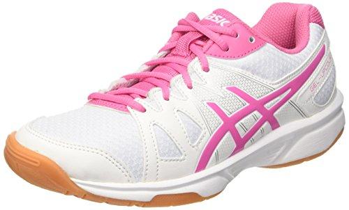 Asics Gel-Upcourt GS, Zapatillas de Bádminton para Niñas, (White/Azalea Pink/White), 40 EU