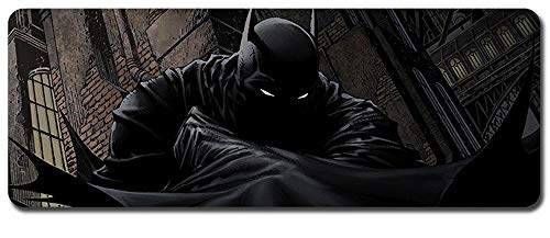 Batman Mouse Pad,Professional Large Gaming Mouse Pad, Classic Pattern Mouse mat,Extended Size Desk Mat Non-Slip Rubber Mouse Mat,Movie (800 × 300× 2 mm / 31.5 × 11.8 × 0.1 inch, 55)