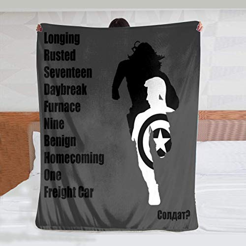 HCLIFE Winter Soldier Activated Throw Blanket, Super Soft Warm Plush Blankets and Throws, Lightweight Cozy Fuzzy Blanket for Couch Sofa Bed (50x40inch)