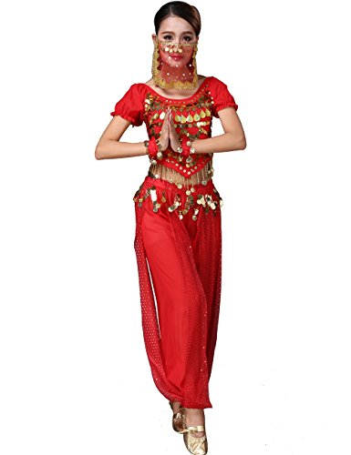 Astage Lady Belly Dancer Costume Dance Show Red
