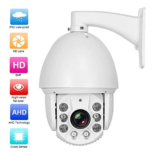 Sale!! Surveillance Camera, Camera with 30x Zoom HD 5MP Camera with 6 LED Infrared Surveillance Surv...