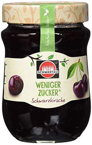 Schwartau weniger Zucker Schwarzkirsche, Fruchtaufstrich, 8er Pack (8 x 300g)
