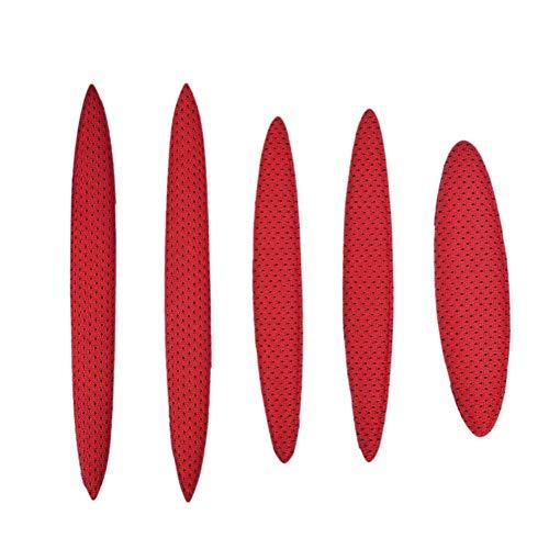 Iswell Helmpolster-Kit Universal-Schaumstoffpolster-Set Universal-Airsoft-Helmpolster für Fahrräder Motorrad-Fahrradhelm Ersatzpolster-Kissen mit Klettverschluss - 4