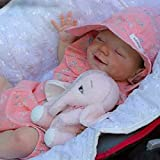 LXTIN 23 Pulgadas April Reborn Doll Real Silicone Reborn Beby, Juguetes de Vinilo Suave para bebés recién Nacidos para niñas y niños