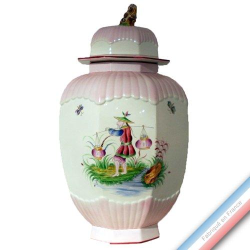Lunéville 1730 Collection Chinois - Potiche à Pans EGM - H 80 cm - Lot de 1