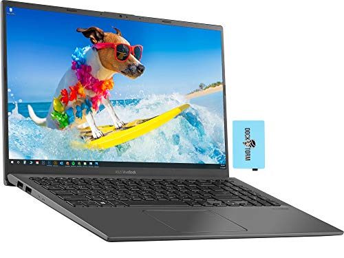 ASUS VivoBook R 15 Home and Business Laptop (Intel i3-1005G1 2-Core, 8GB RAM, 512GB PCIe SSD, Intel UHD, 15.6' Touch Full HD (1920x1080), Fingerprint, WiFi, Bluetooth, Webcam, Win 10 Home) with Hub
