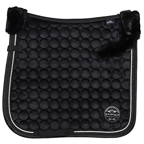 HV Polo Tapis de Selle Furry Luxury - Noir-Dressage Cheval