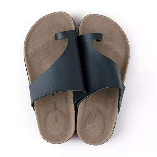 COQUI Sandalia,Zapatos de Gran tamaño Zapatos de Corcho Zapatillas de Corcho Femenino de aderezo Exterior-Negro_41