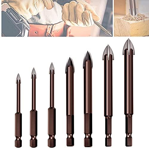 Herramienta perforación universal eficiente 7 piezas - clavos broca mampostería aleación cruzada...