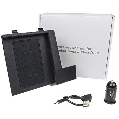 Viudecce Cargador de TeléFono InaláMbrico para C-Class GLC 2016-2019,Consola Central Alfombrilla de Carga para Todos los Modelos C GLC Accesorio para Habilitados para QI