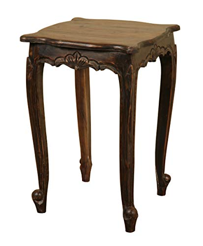 Sunset Trading Shabby Chic Cottage Tisch, Mahagoni, Vintage Eisen schwarz, Small Carved