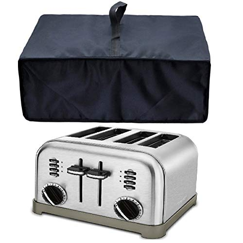 Heavy Duty Heat-Resistant Waterproof Dust-proof Cover for Cuisinart CPT-180 Metal Classic 4-Slice Toaster/Cuisinart CPT-340/CPT-142/ CPT-435/KitchenAid Kmt4115cu/BLACK+DECKER TR4310FBD/4-Slice Toaster