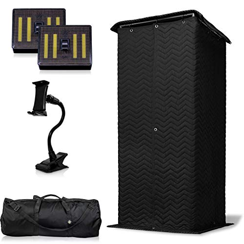 The Ultimate Vocal Booth — Portable Pop Up Home Studio for Voice Recordings — 360 Degree Isolation & Sets Up in Minutes!
