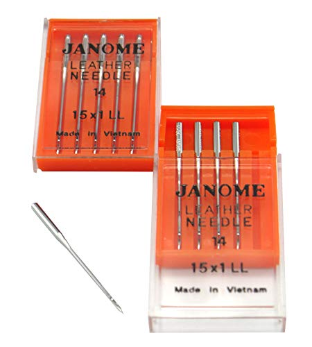 Sale!! DREAMSTITCH 990614000A 10 Pcs Leather Needles 15X1LL - # 14 for Janome Brand 990614000A