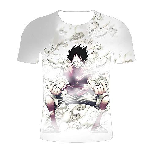 Stretch Camiseta para Hombre,Una Pieza 3D impreSión Digital Casual Camiseta de Manga Corta para hombreS-XT469_XL