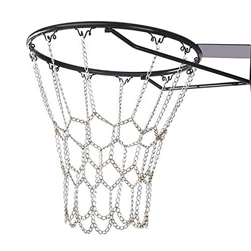 NININI Metall Basketballnetz,Basketballnetz Ersatz,Basketballnetz Im Freien,Standard Langlebiges Verzinktes Basketballnetz,Sportartikel für Outdoor oder Indoor Basketballkorb