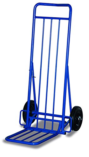 Paketroller RAL5010 Enzianblau Sackkarre Kistenkarre Stapelkarre Stahlrohrkarre