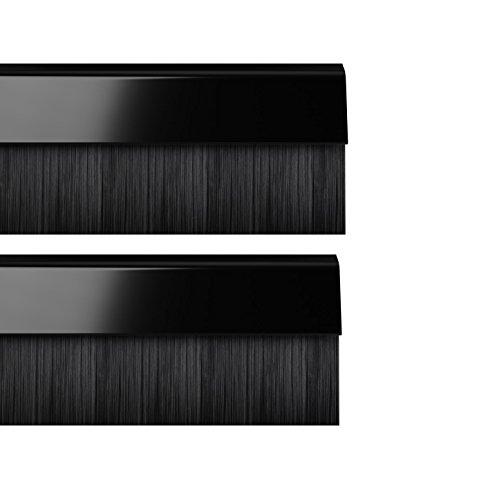 Stormguard 02am0010914bl cepillo BDS Cubierta para parte inferior de la puerta burlete, Negro, 914mm, set de 2piezas