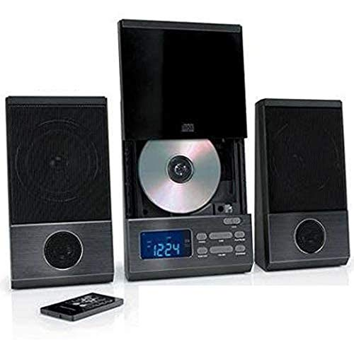 ONN ONA13AV503 Audio Compact Home CD Music Shelf System Vertical-Loading with Stereo Dynamic Speakers & Digital AM/FM Radio LCD Display & Aux Line in