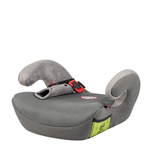 HEYNER® Autositz Kindersitzerhöhung mit Gurtführung ECE-Gruppe 2 und 3 Sitzerhöhung Kinder 3-12 Jahre 15 bis 36 kg Booster (Koala Grey)