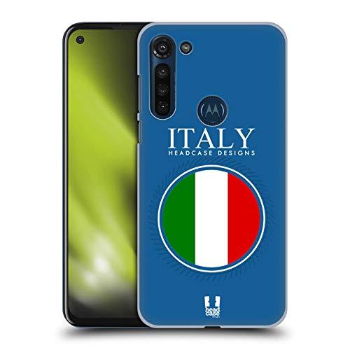 Head Case Designs Italienisch Fahne Fahne Flicken 2 Harte Rueckseiten Huelle kompatibel mit Motorola Moto G8 Power