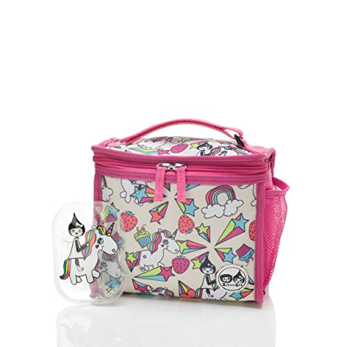 Zip & Zoe Kids Unicorn Thermal Insulated Lunch Box/ Bag with Compartments, Ice Pack and Handle PVC free and BPA free