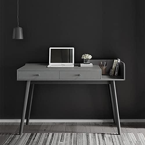 Mesa de Escritorio de Estilo Simple Moderno Estudio de Oficina en casa Portátil Marco Estable Cajón de Almacenamiento Resistente Uso Ergonómico para Dormitorio