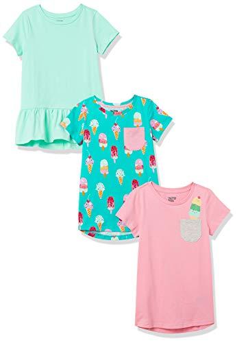 Spotted Zebra 3-pack Short-sleeve Tunic Tops Hemd, Mehrfarbig (Sweets), [ Herstellergröße: Medium 8