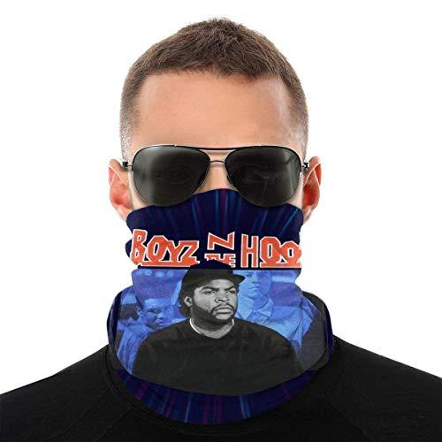 GERERIC Calentador De Cuello para Hombre Mujer,Boyz N The Hood Doughboy Ice Cube tre Styles Ricky,Bufanda Facial Multifuncional Pañuelo De Cabeza Protección UV Pasamontañas para Pesca Partido Yoga