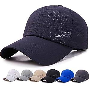 メッシュキャップ, 通気性抜群 日除け UVカット 紫外線対策スポーツ帽子 ランニングキャップ,男女兼用 速乾 軽薄 日よけ野球帽,登山 釣り ゴルフ 運転 アウトドアなどにメッシュ帽