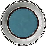 TREEECFCST Servizio di Piatti Vintage ondulata Side Cena Piatto di Porcellana Cucina Domestici Steak Piatto Tondo Porcellana e Ceramica