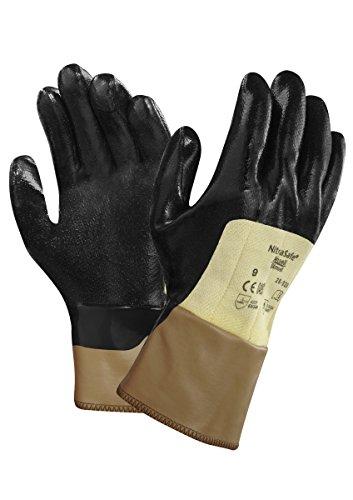 Ansell Nitrasafe 28-329 Guanto di Protezione meccanica contro il taglio, Nero, Taglia 8 (12 Paia)