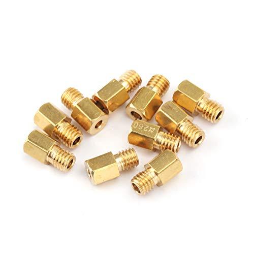 Topteng Sechskantdüsen für Miku-NI VM/TM/TMX Vergaser 200-290 220 250 4/042, 10 Stück